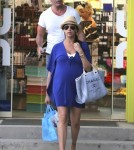 Simon Cowell & Pregnant Lauren Silverman Out Shopping In St. Barts ***SEE RESTRICTIONS***