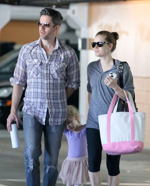 Amy Adams Takes Aviana to Ballet Class