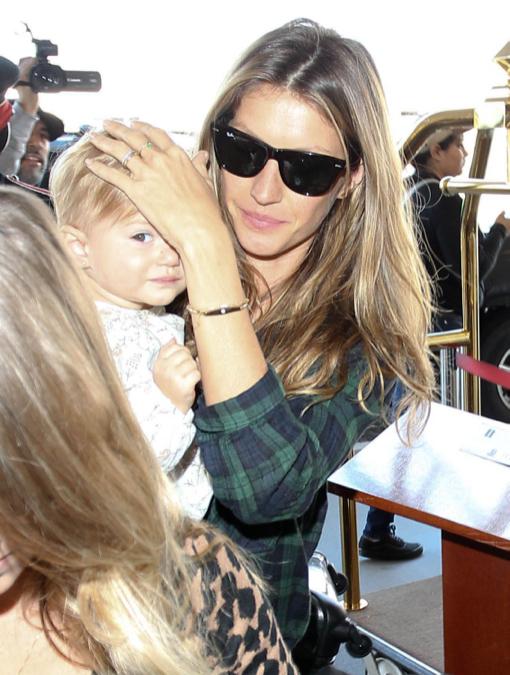 Gisele Bundchen & Daughter Vivian Departing On A Flight At LAX