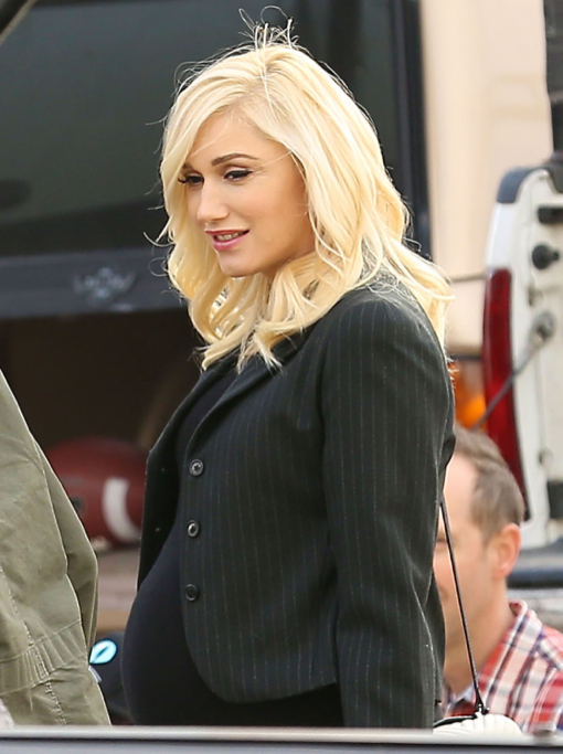 Gwen Stefani Bumps at Super Bowl Party With Family