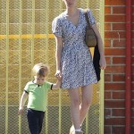 January Jones & Xander Take a Stroll