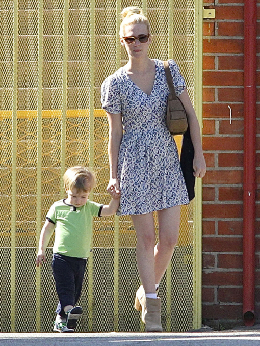 January Jones Out With Her Son Xander In Los Angeles