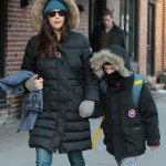 Liv Tyler Does the School Run on Chilly Day in the City