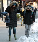 Liv Tyler Walks Milo To School