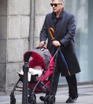 Alec Baldwin & Family Take A Stroll Through Madrid