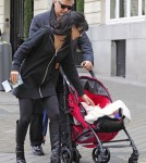 Alec Baldwin & Family Take A Stroll Through Madrid