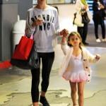 Alessandra Ambrosio Picks Up Her Little Ballerina Up