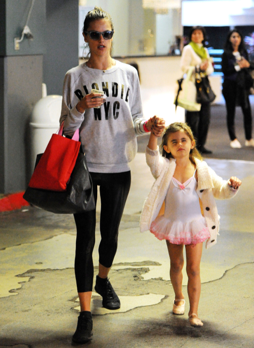 Exclusive... Alessandra Ambrosio Takes Anja To Her Ballet Class