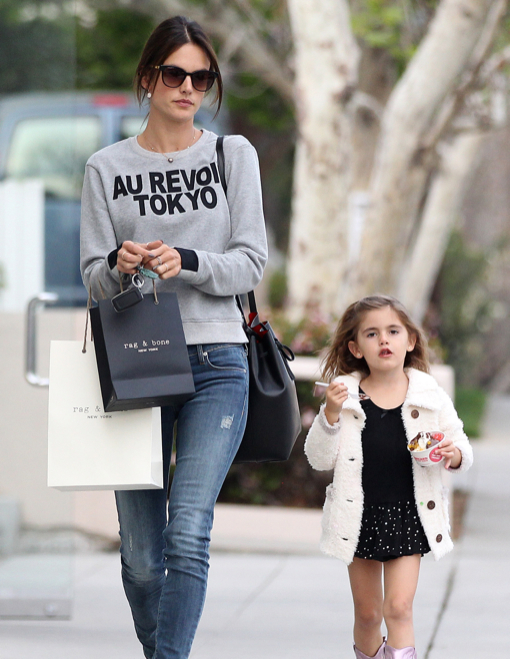 Exclusive... Alessandra Ambrosio Shops With Anja In Brentwood