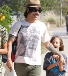 Anthony Kiedis & Helena Vestergaard Out With His Son Everly