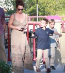 Britney Spears Lunches At Red Robin With Her Family