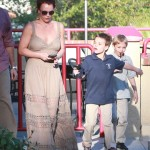 Britney Spears Spends Friday With Her Boys