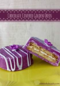 Chocolate Covered Golden Oreos