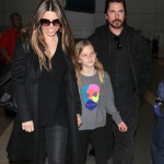 Christian Bale & Family Touch Down