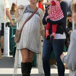 Elsa Pataky Looks Ready to Pop on Day Out With Daughter