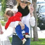 Jaime King Hold James Close on Morning Out