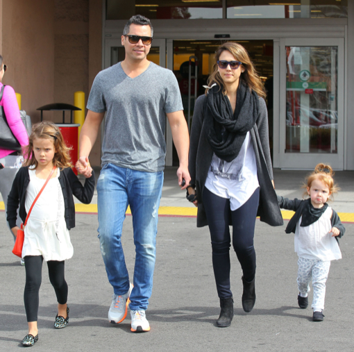 Jessica Alba & Family Out Shopping At Target