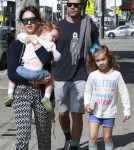 Jessica Alba & Family Out For Lunch