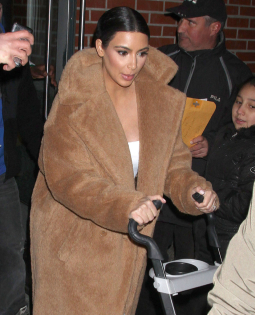 Kim & Kanye Leaving Their Apartment In New York City