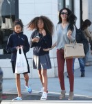 Exclusive... Kimora Lee Simmons Goes Shopping With Her Daughters