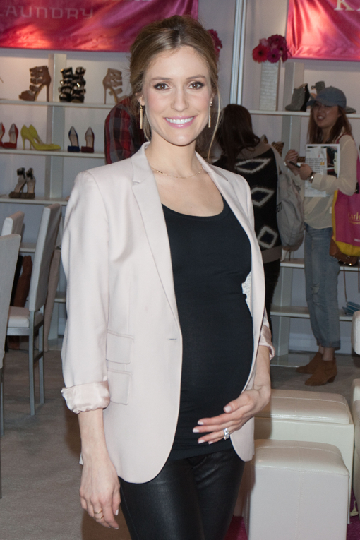 Pregnant Kristin Cavallari Presents Footwear Collection At MAGIC Market Week