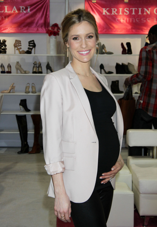 Pregnant Kristin Cavallari Presents Footwear Collection At MAGIC Market Week
