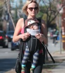 Exclusive... Malin Akerman Takes Sebastian For A Morning Walk
