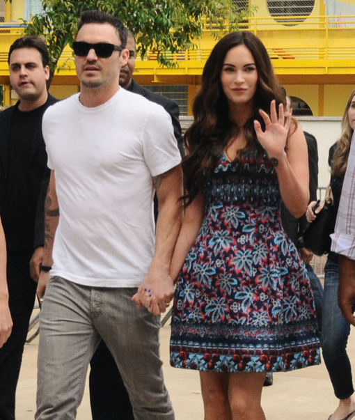 Megan Fox Visits Heliopolis In Sao Paulo