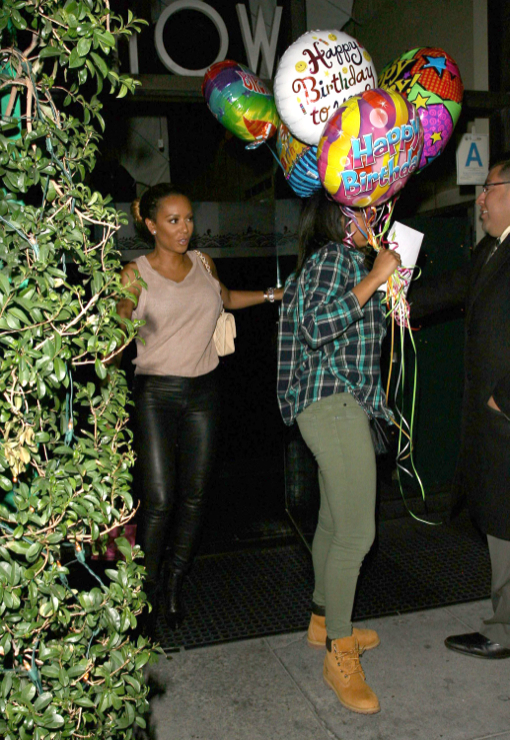 Mel B Takes Daughter Phoenix Out For A Birthday Dinner
