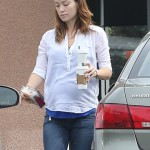 Pregnant Olivia Wilde Goes Makeup-Less While Making a Coffee Run