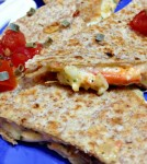 Cheesy Crab Quesadilla With Horseradish Aoli