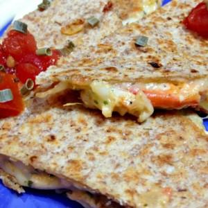 Cheesy Crab Quesadilla With Horseradish Aoli