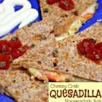 Cheesy Crab Quesadilla With Horseradish Aoli Recipe