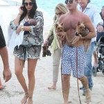 Simon Cowell & Lauren Silverman Vacation in Miami With Newborn Son Eric