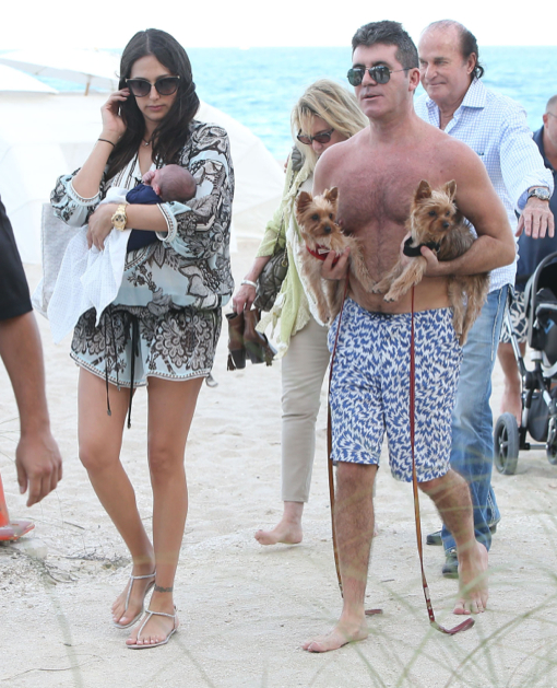 Simon Cowell Amp Lauren Silverman Vacation In Miami With