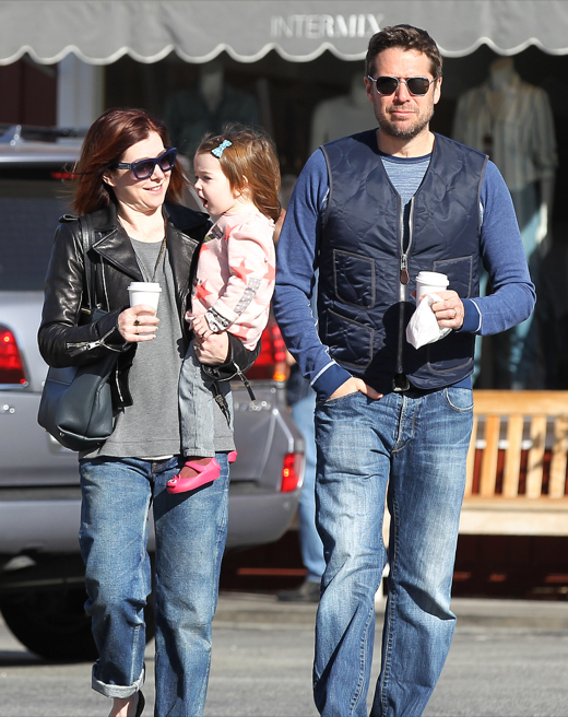 Alyson Hannigan Visits The Country Mart With Her Family