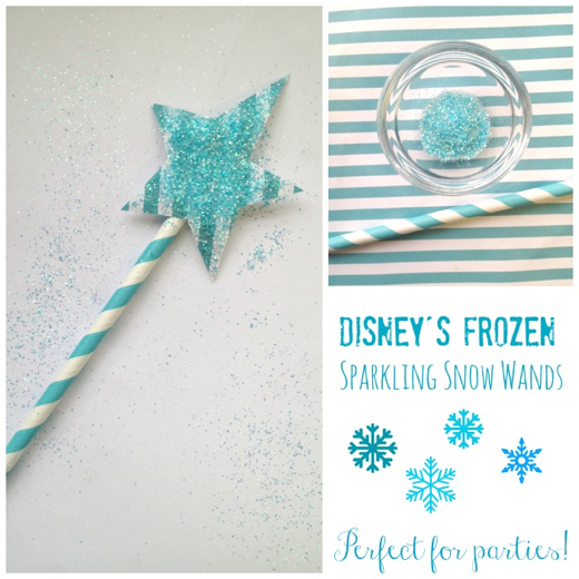 Disney's Frozen Inspired Sparkling Snow Wands #Frozen #FrozenParty