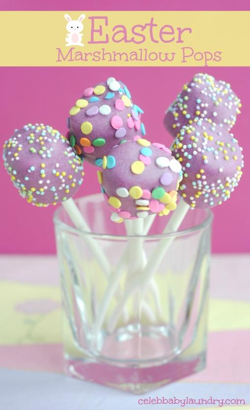 Easter Marshmallow Pops #Easter #EasterPops