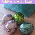 Easter Craft For Kids: Glitter Easter Eggs