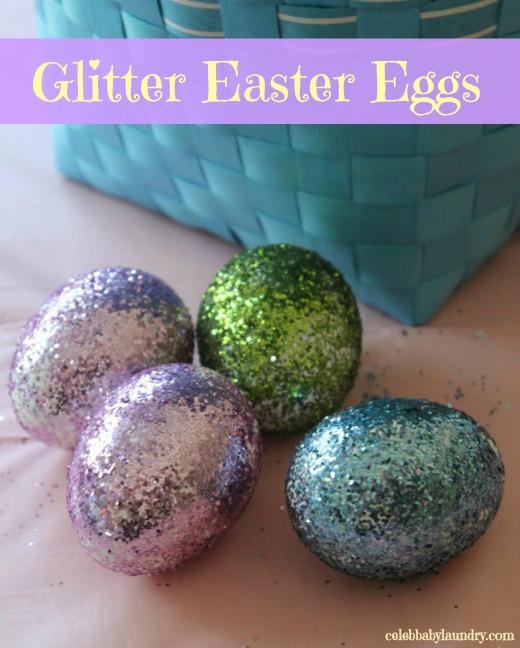Glitter Easter Eggs EasterEgg Craft