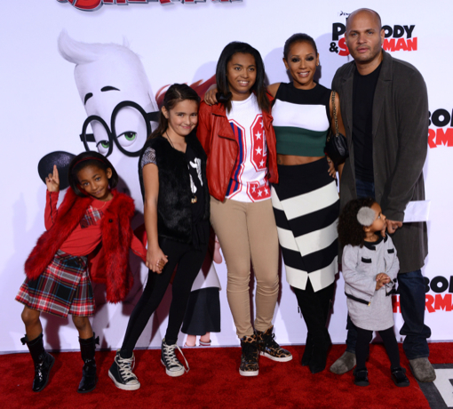 Mel B & Family Attend the Premiere of Mr Peabody & Sherman