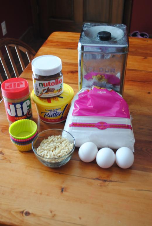 Nutella Peanut Butter Cup Muffins #NutellaMuffins