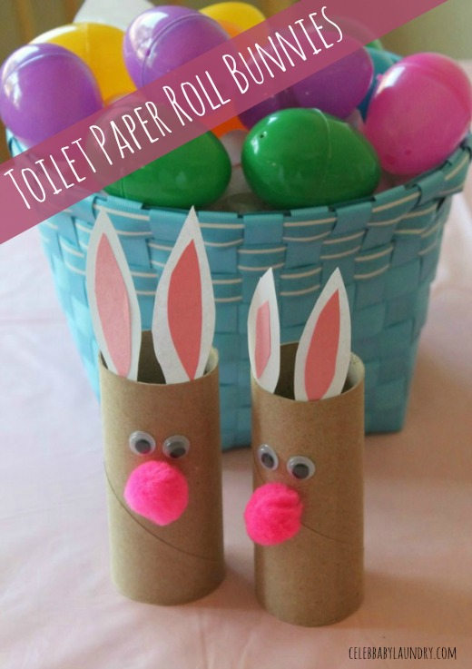 Fun toddler craft toilet paper roll bunnies celeb baby for Fun crafts with toilet paper rolls