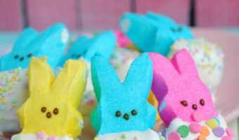 Get Ready For Easter With White Chocolate Dipped Bunny Peeps