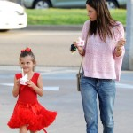 Alessandra Ambrosio & Anja Enjoy Frozen Yogurt on Day Out