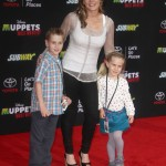 Alison Sweeney Takes her Children to Disney's Muppets Most Wanted Premiere