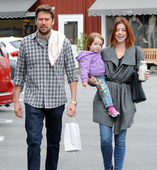 Alyson Hannigan & Family Get Breakfast At Farmshop