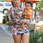 Amber Rose Carries Her Baby Boy on Day Out