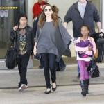 Angelina Jolie Returns Home With Maddox & Zahara