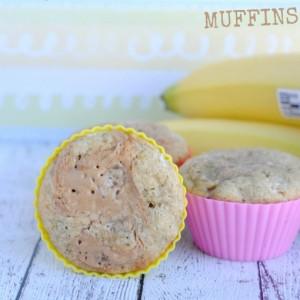 Banana Peanut Butter Swirl Muffins #Muffins #PeanutButter #Banana